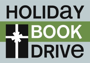 holiday book drive logo