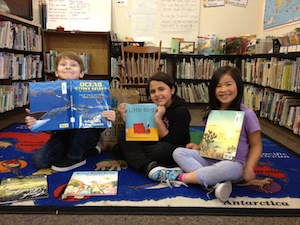Gault students celebrate the latest addition to their library