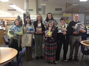 Librarians from Mission Hill, Soquel High, Harbor High, Small Schools, Santa Cruz High and Branciforte